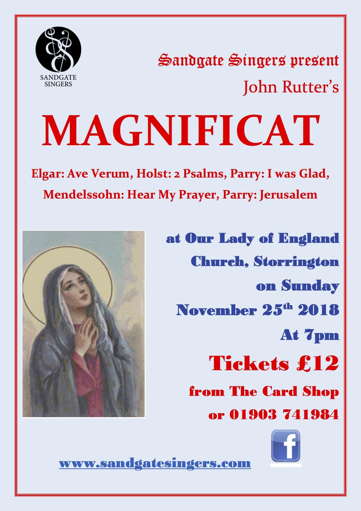 Magnificat poster Nov 2018